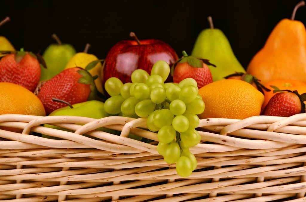 fruits lapin